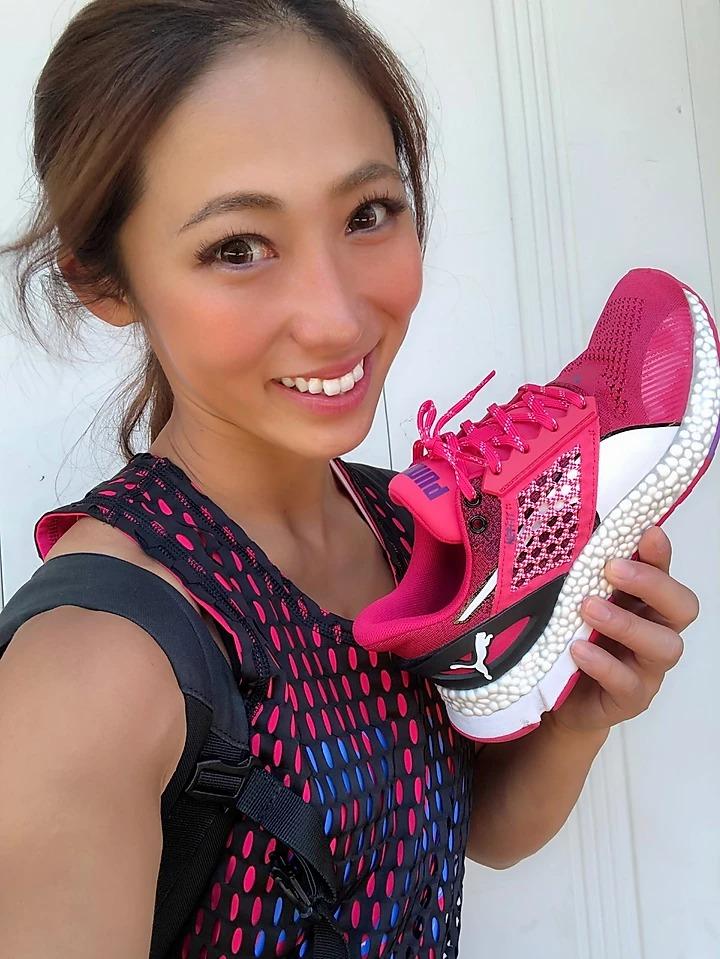 尾藤朋美とPUMA HYBRID Astro 22.5㎝
